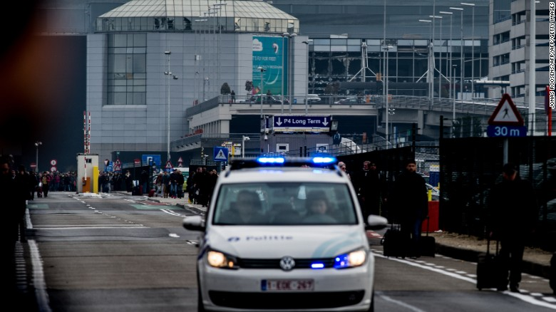Reported explosions at Brussels airport in Belgium
