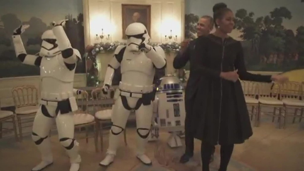 Watch the Obamas dance with stormtroopers, R2-D2 on Star Wars Day