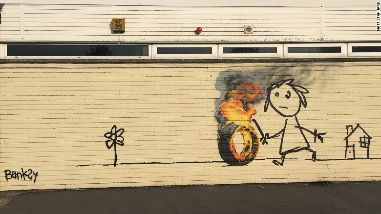 There's a new Banksy mural in England