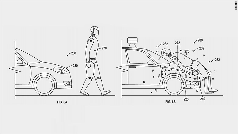 Google patent would glue pedestrians to self-driving cars