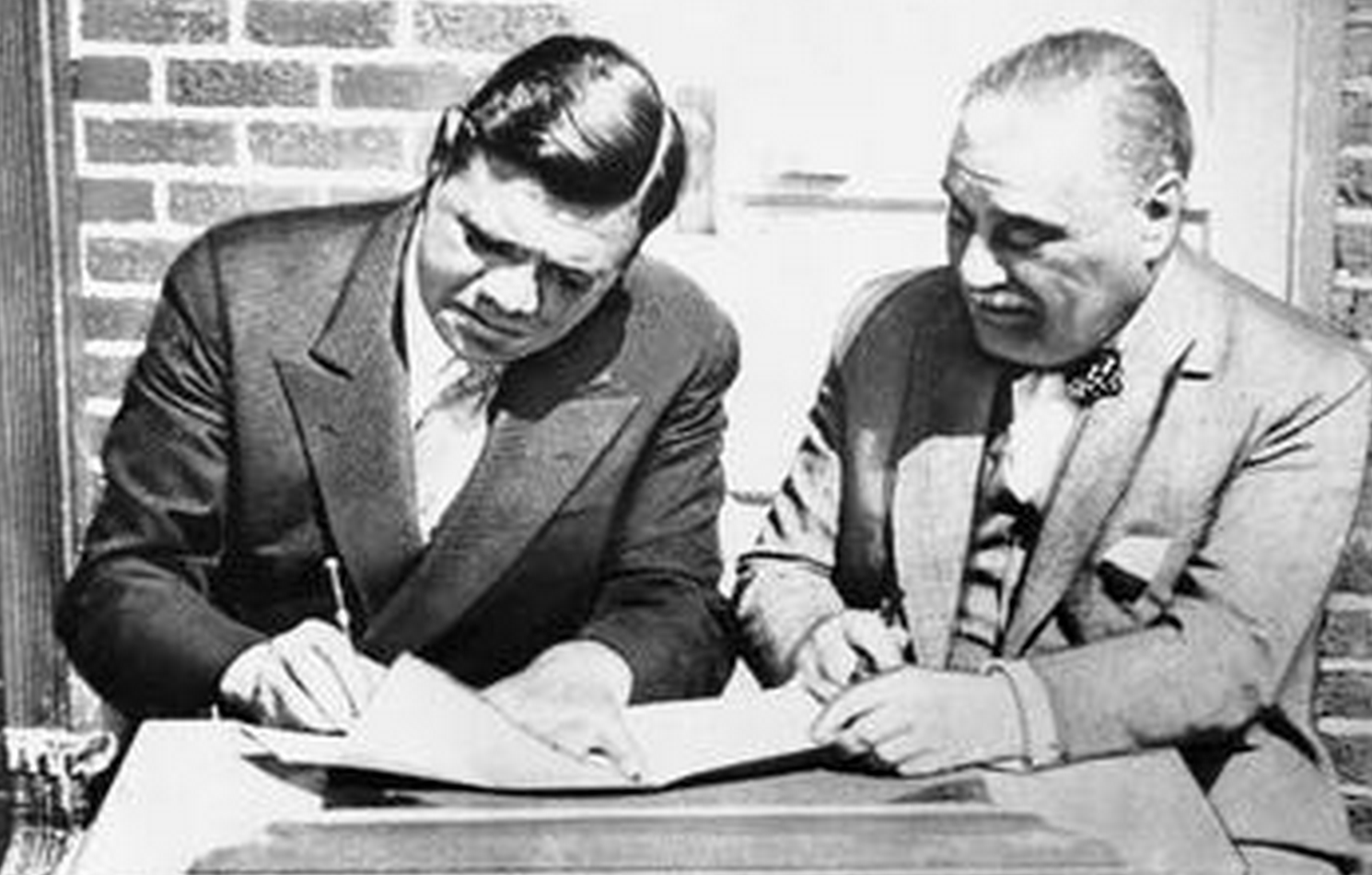 Babe Ruth signed Yankees contract 86 years ago today
