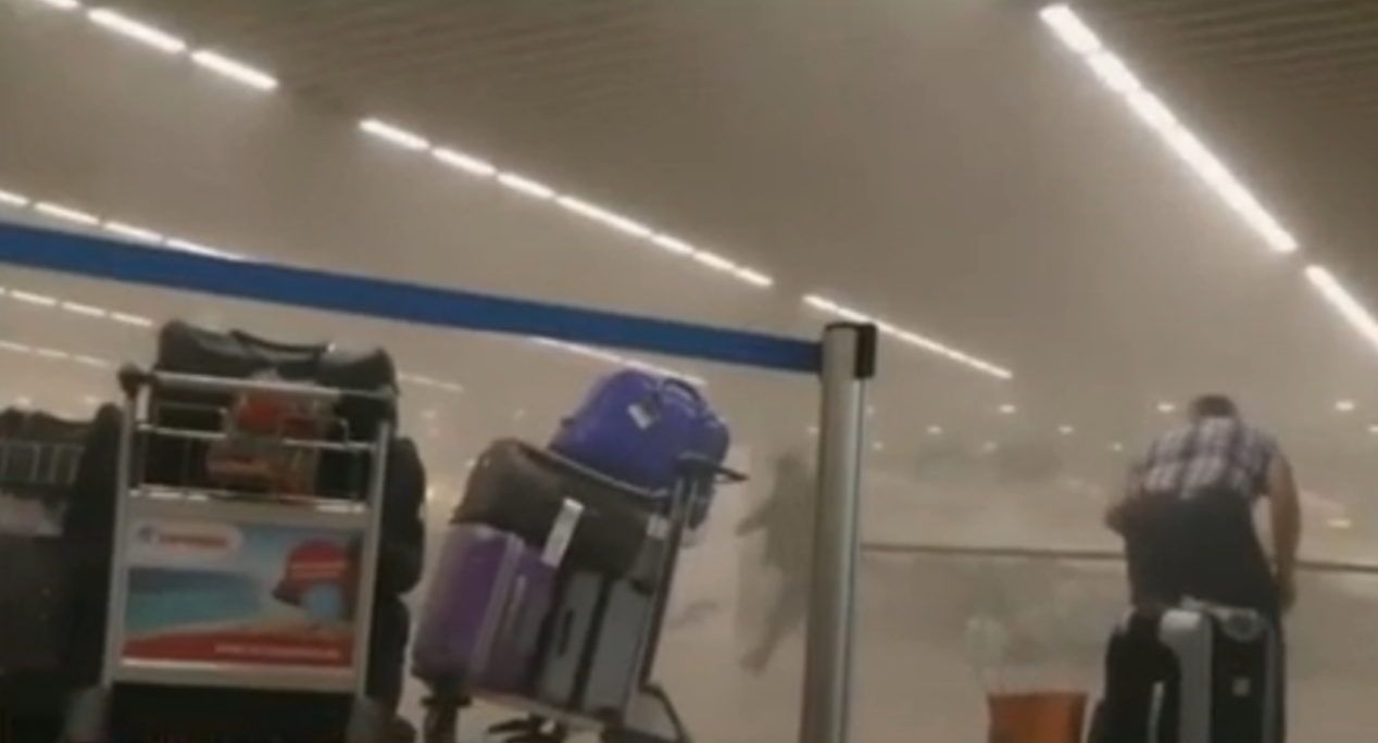 WATCH: Raw video shows aftermath of Brussels airport bombing