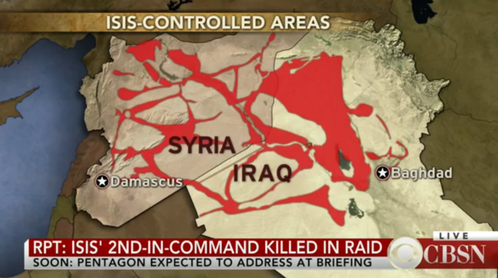 ISIS No. 2 in command killed, U.S. believes
