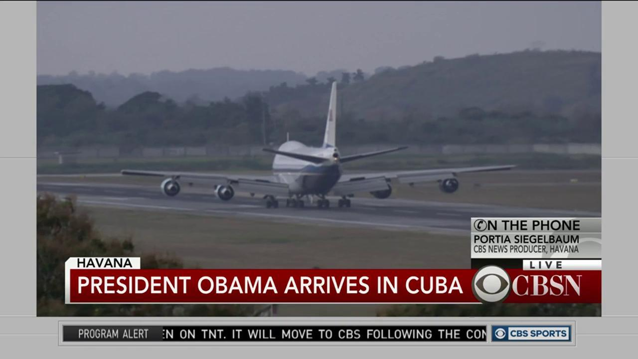 Watch: President Obama arrives in Cuba